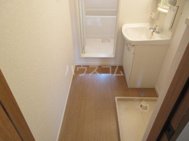 ブランエールD 201号室の洗面所
