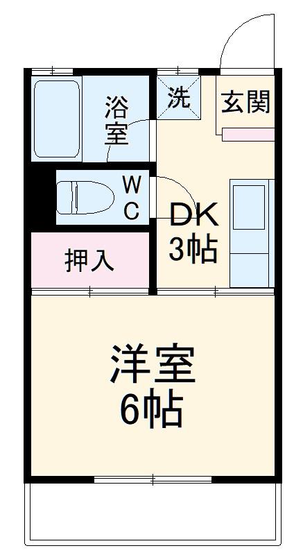 ドミール姫子A・107号室の間取り