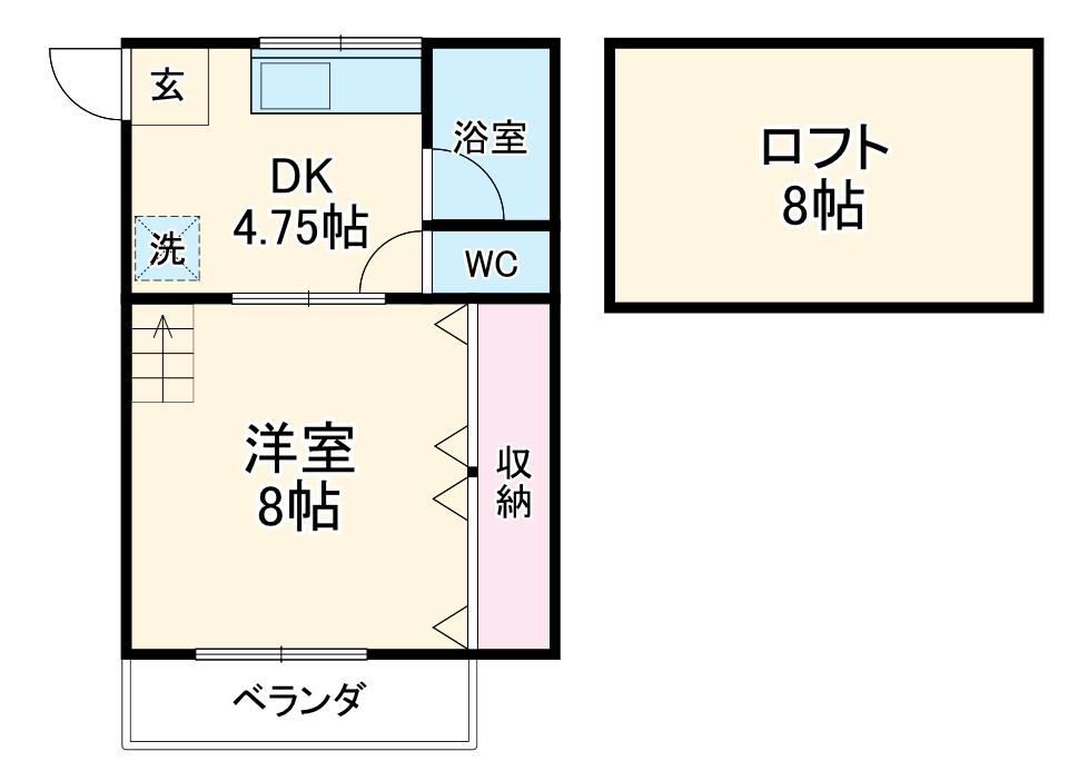 クラシカル姫子2 D号室の間取り