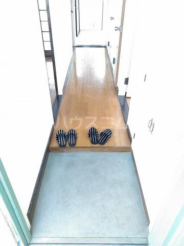 リエス友部 301号室の玄関