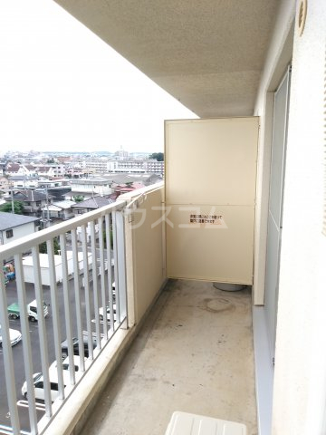 総業水戸第三姫子ハイム 710号室のバルコニー