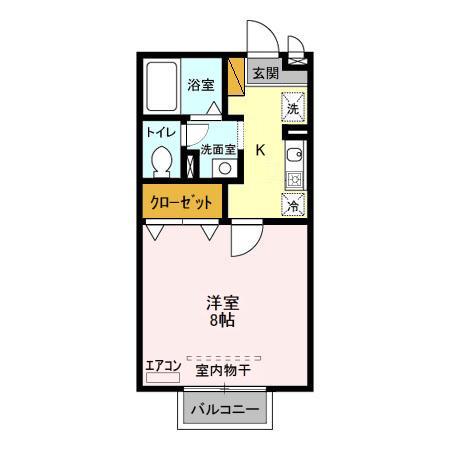 桜花荘・103号室の間取り