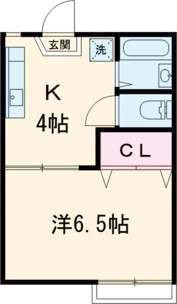 アパートメント国分寺1号棟・205号室の間取り