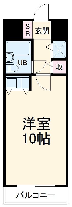 朝日プラザアーバンコア高松Ⅱ・503号室の間取り