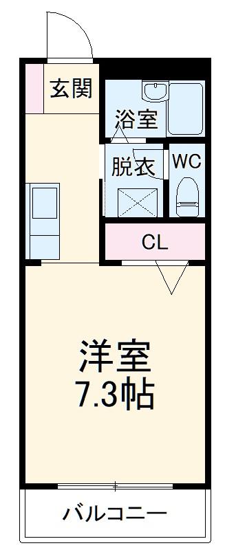 フォブール21 101号室の間取り