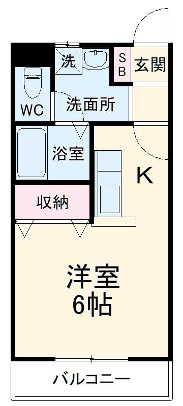 パズ昌栄Ⅱ・203号室の間取り