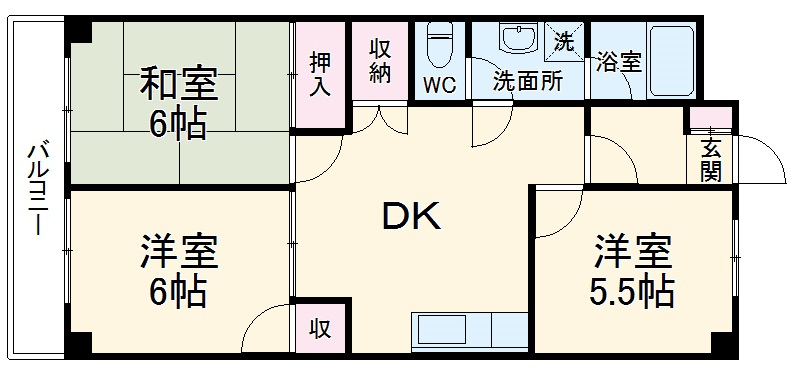 パールマンションⅡ・403号室の間取り