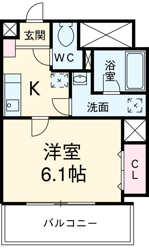 LOTUS GARDEN HOSAKA・504号室の間取り