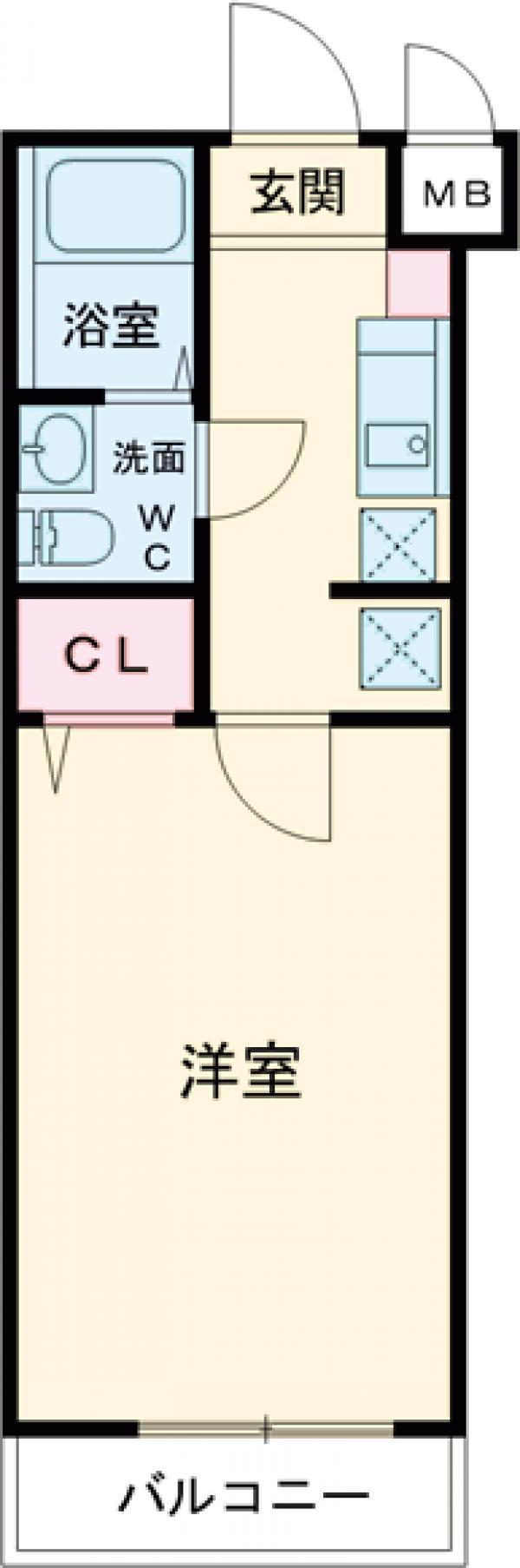 エスパシオ西高島平・404号室の間取り