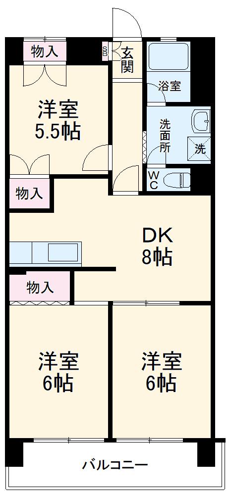 ミヤシタマンション・105号室の間取り