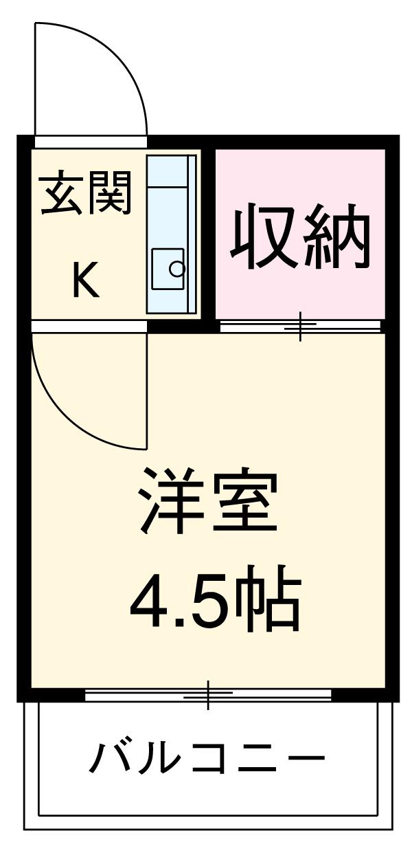 駒崎マンション・210号室の間取り