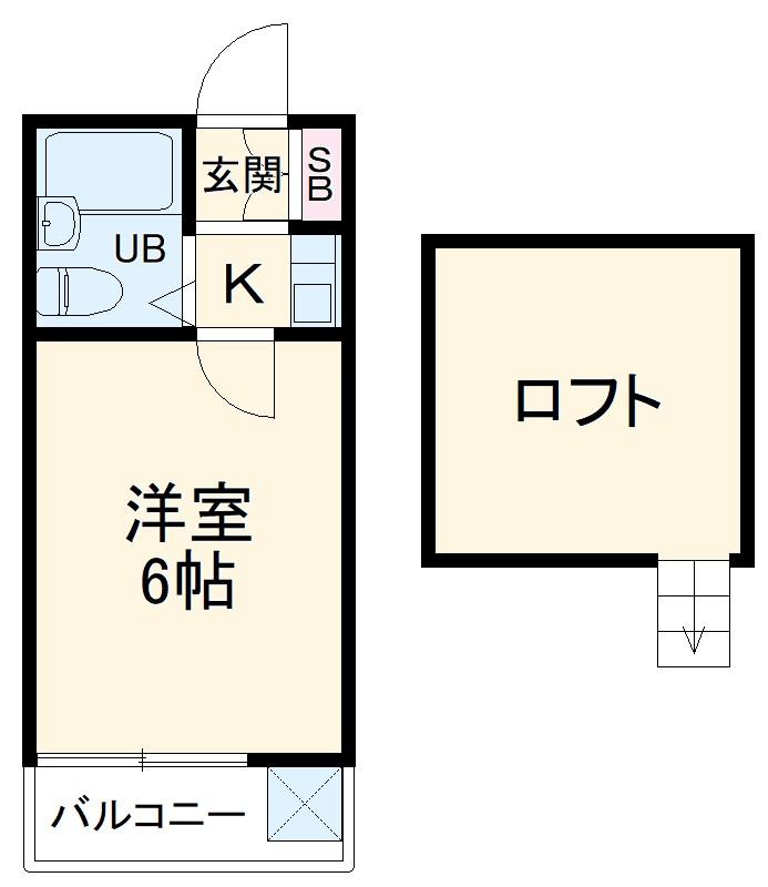 daikan10・1-C号室の間取り