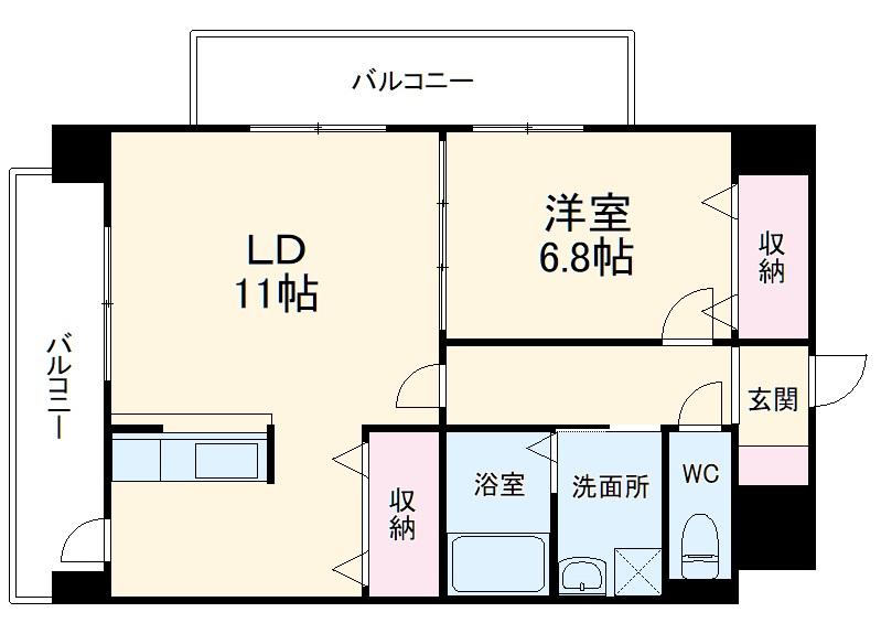 グランシャリオ覚王山・206号室の間取り