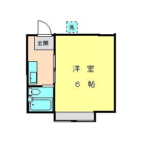 モイドーマ日吉・102号室の間取り
