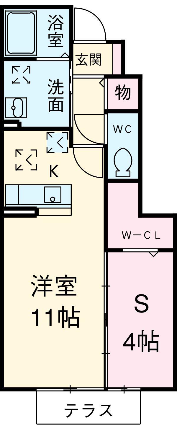Schlosse Fuji V・103号室の間取り