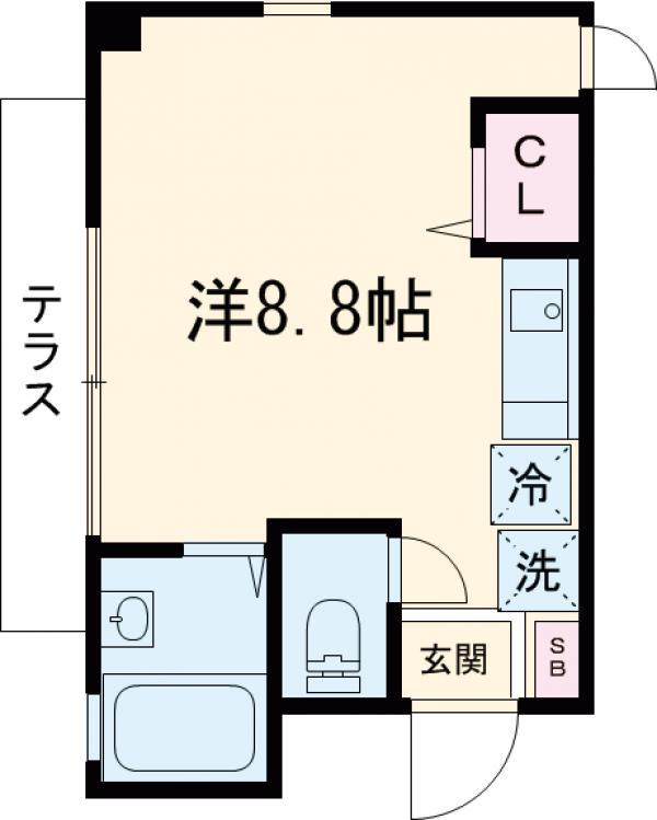 セントヤマト徳丸E棟・108号室の間取り