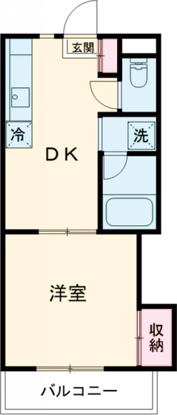 第13島田マンション・307号室の間取り