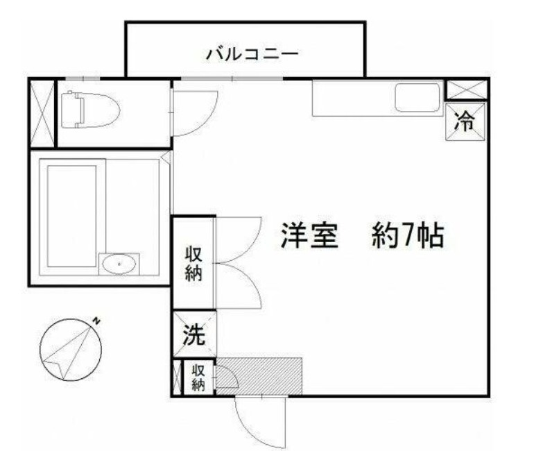 LYNX赤塚新町・201号室の間取り