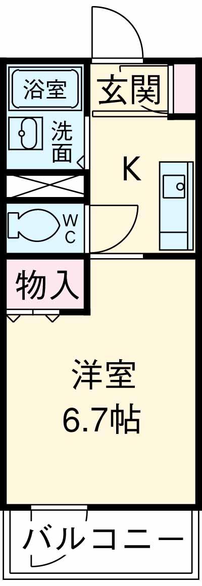 LYNX赤塚新町・305号室の間取り
