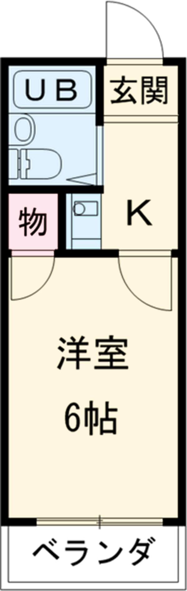 KATO2・102号室の間取り