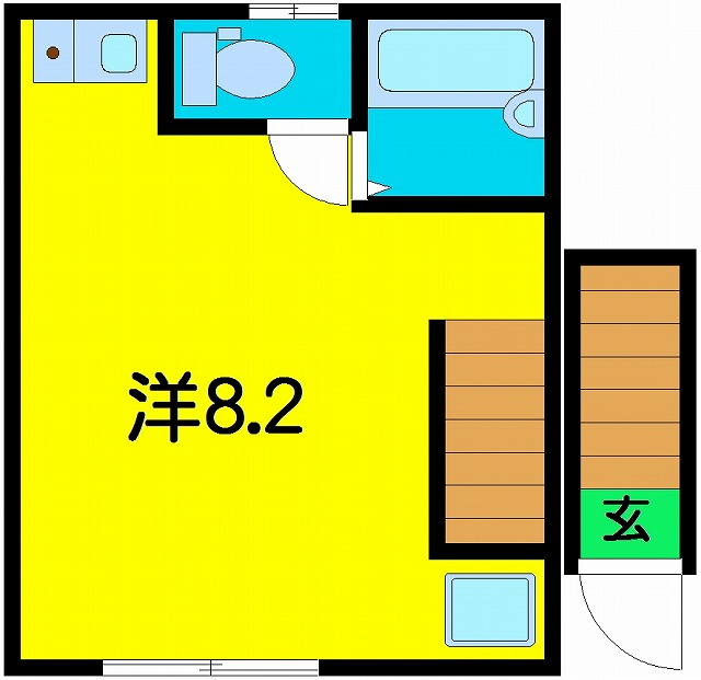 アルファアーチⅡ・202号室の間取り