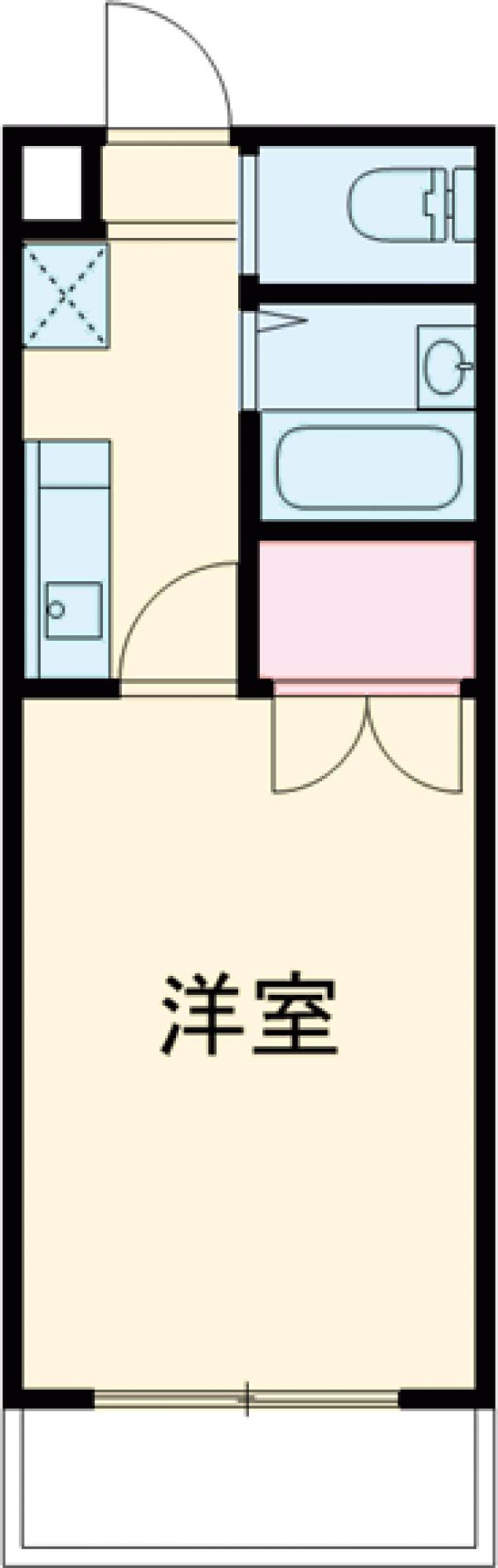 ラベンダー仙川・408号室の間取り