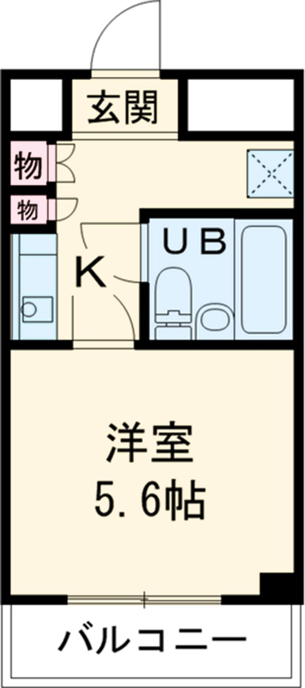 ラ・スール日吉・208号室の間取り