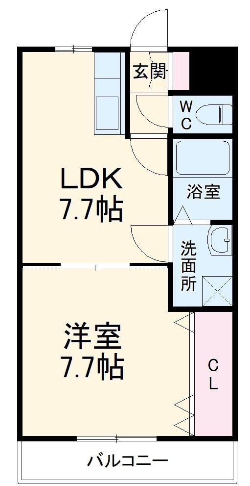 AKマンション・303号室の間取り