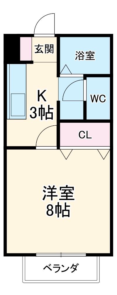 KEコーポ古雅・103号室の間取り