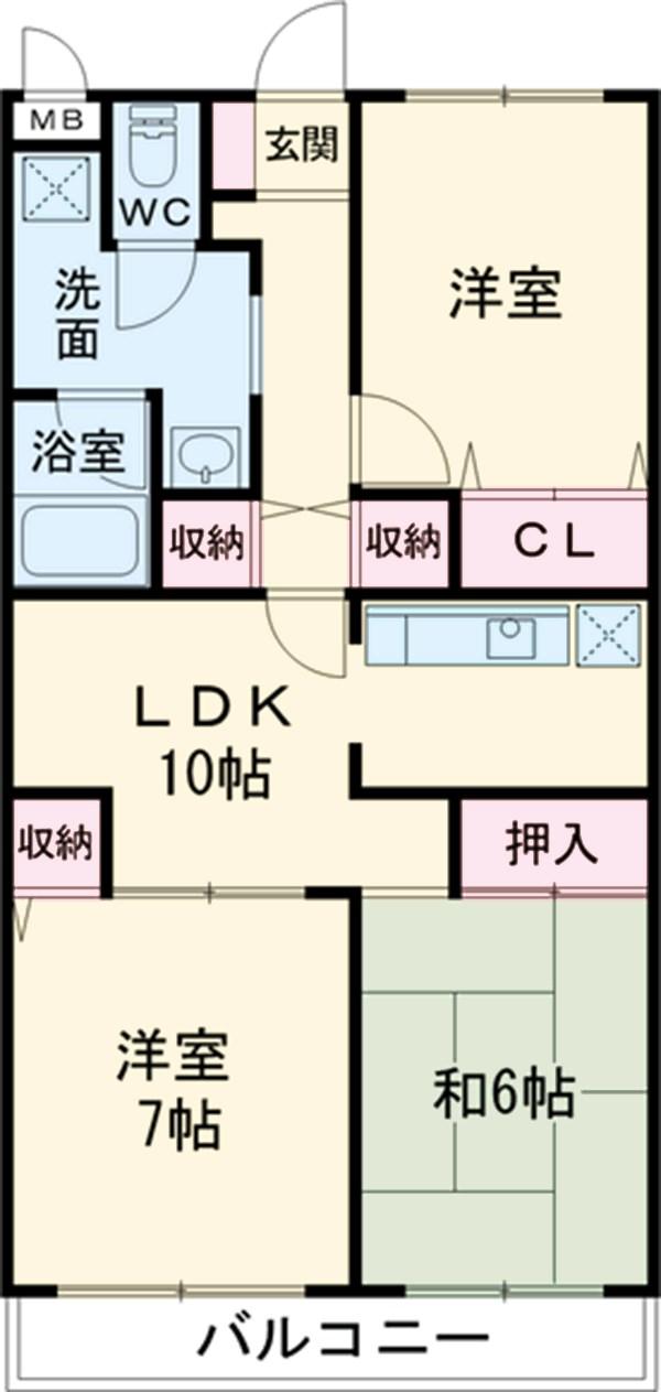 R FIELDS CHIBA 103号室の間取り