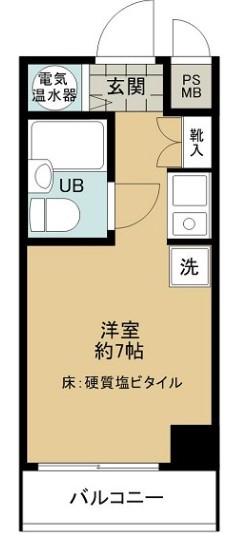 ライオンズマンション三鷹第5・406号室の間取り