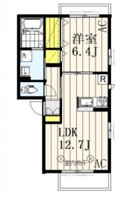 シャトレー武蔵野参番館・302号室の間取り