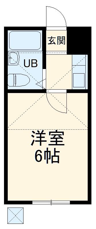 ヴィラ新検見川・105号室の間取り
