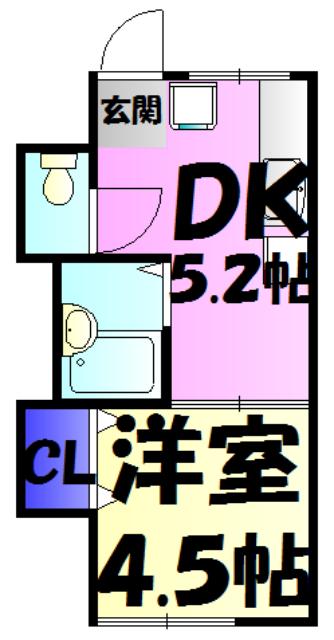 エクセル富士見Ⅰ・102号室の間取り