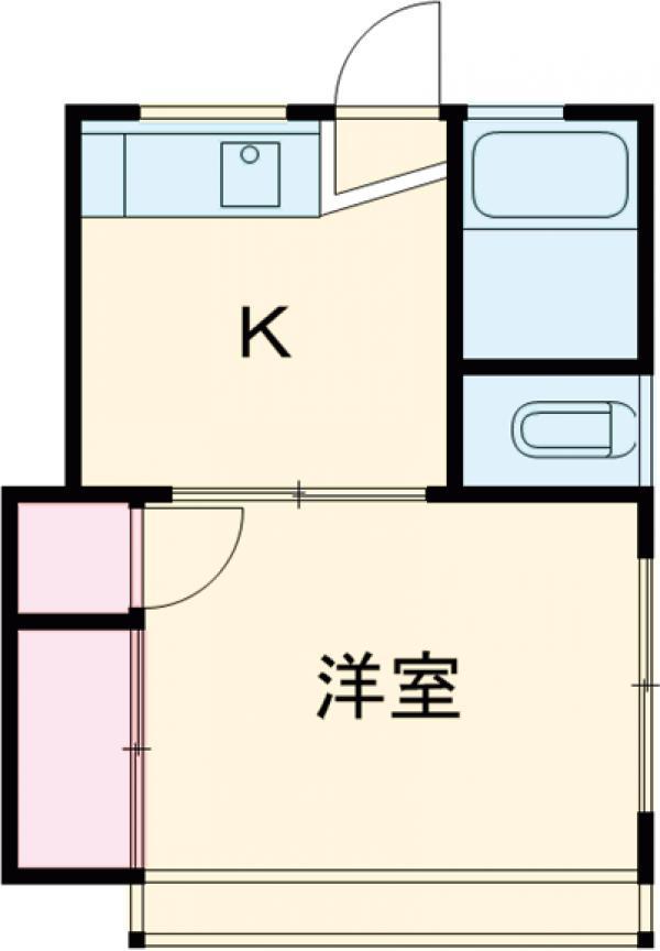 高橋荘・202号室の間取り