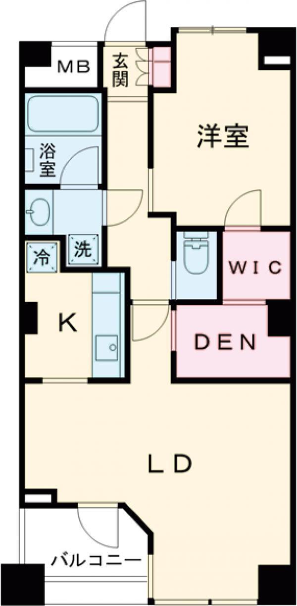レジディアタワー上池袋 タワー棟・422号室の間取り