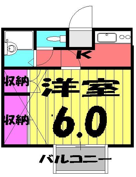 poko'sハウス 203号室の間取り