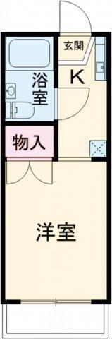 モンシャトー武蔵野・103号室の間取り