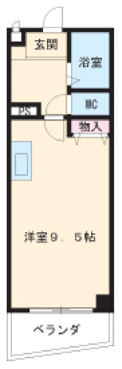 第3さくらマンション中央・502号室の間取り