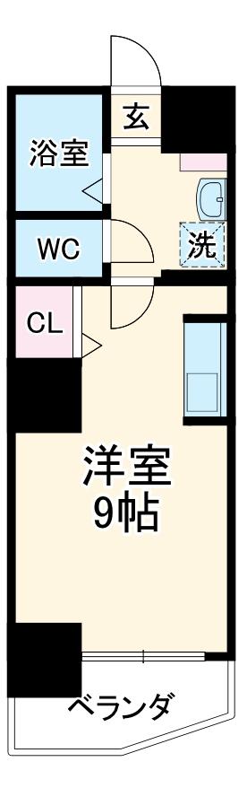第3さくらマンション中央・903号室の間取り