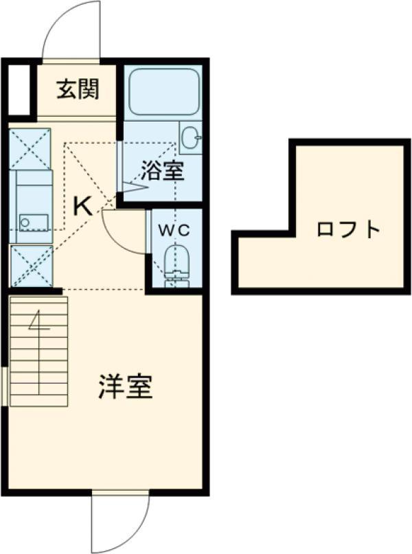マーベラス三鷹・井口・102号室の間取り