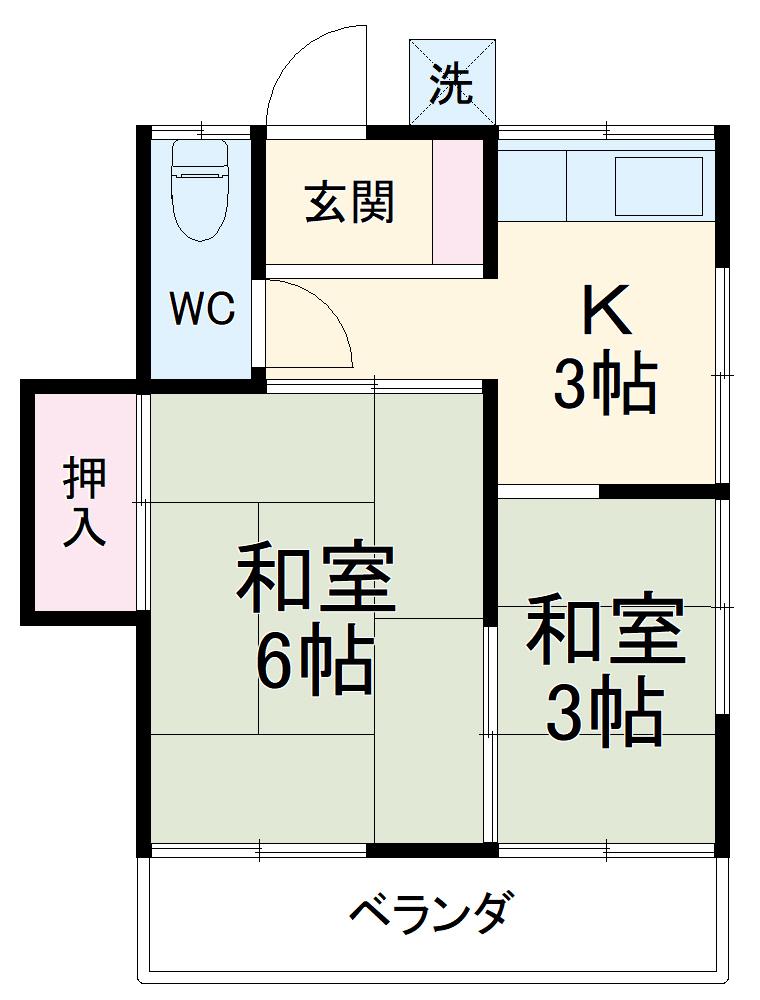 菊水荘・102号室の間取り