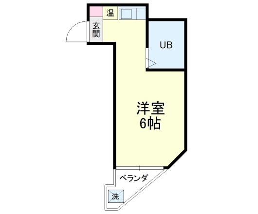ニュー田中屋マンション・4-D号室の間取り