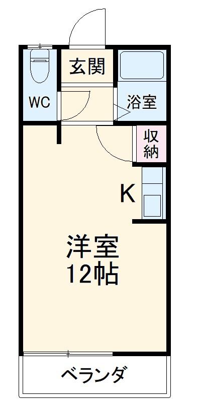 アットホーム藤島・3号室の間取り