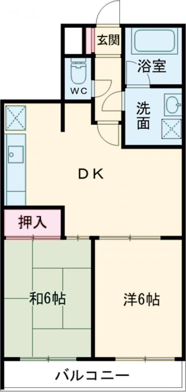 パークヒル西新井・502号室の間取り