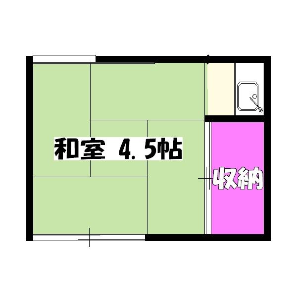 池田荘・201号室の間取り