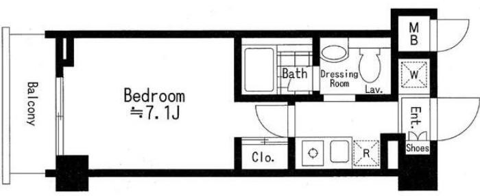 ドゥーエ西池袋・304号室の間取り