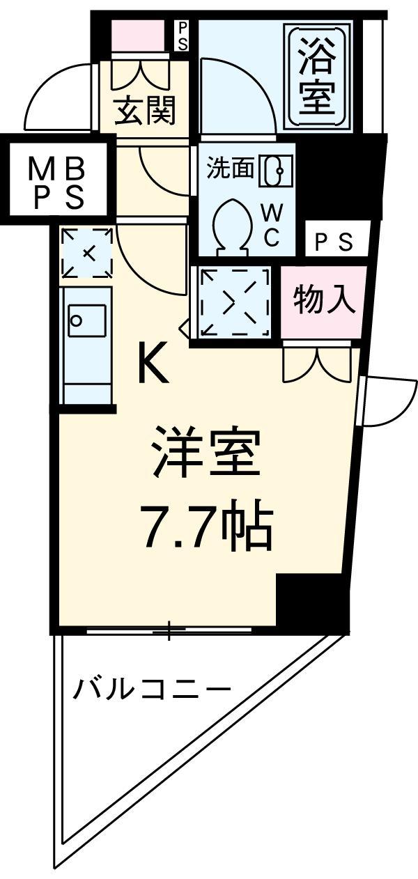 DIPS桜台駅前・506号室の間取り