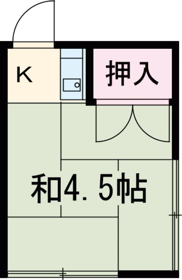 岩田荘 1号室の間取り