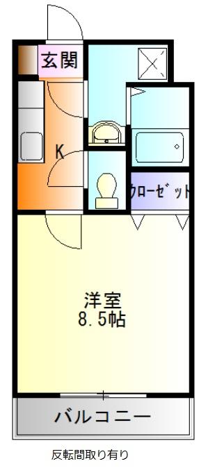 高御所ロイヤルマンション・510号室の間取り